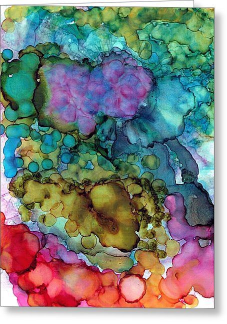 Blowing Bubbles Greeting Card by Christine Crawford