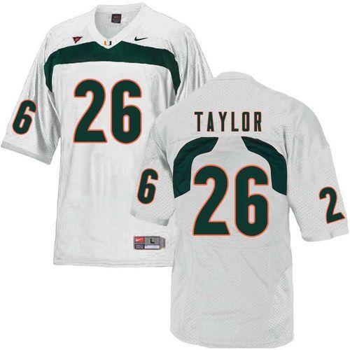 6bf29e78a Miami Hurricanes Sean Taylor  26 Nike Football Replica Jersey