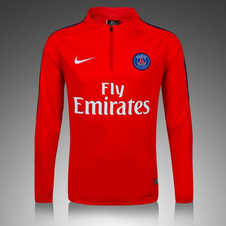 PSG 2016/17 Red Long Sleeve Training Top