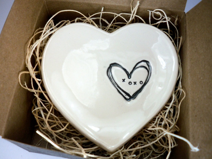 Wedding Ring Bowl, Jewelry Dish, Black and Winter White, Gift Boxed ready to ship, Fall Home Decor, Candle Holder,  Spoon Rest. $12.00, via Etsy.