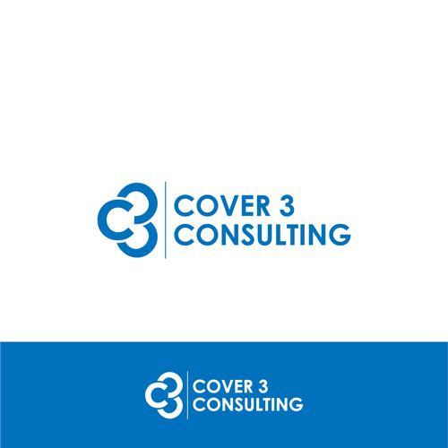 Cover 3 Consulting 鈥?20Logo that appeals to professional business conveying risk mgt of football defense called Cover 3