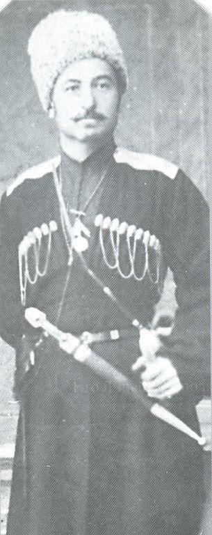1-го Волгского полка ТКВ подъесаул В.К. Агоев.