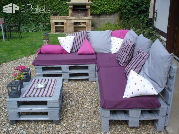 Pallets garden lounge salon de jardin en palettes europe for Outdoor furniture europe