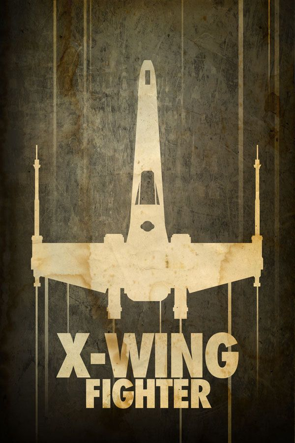 """Image of """"Star Wars X-Wing Fighter"""" by Jason Christman 16x24. $45.00, via Etsy."""