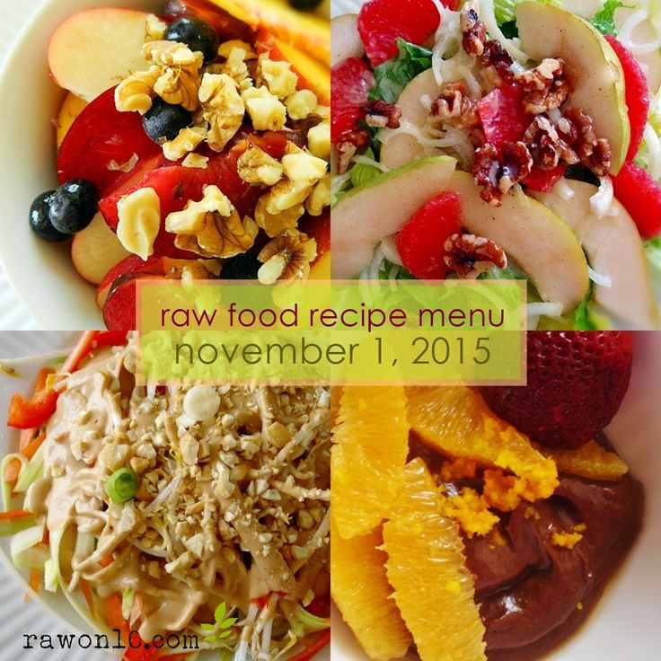 220 best raw on 10 a day raw food recipes images on pinterest raw food recipe menu forumfinder Choice Image