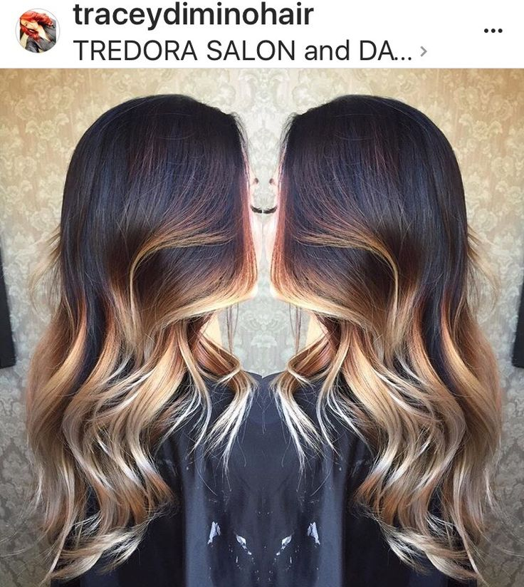 Beautiful Painted Hair Balayage Ombre Stretched Root