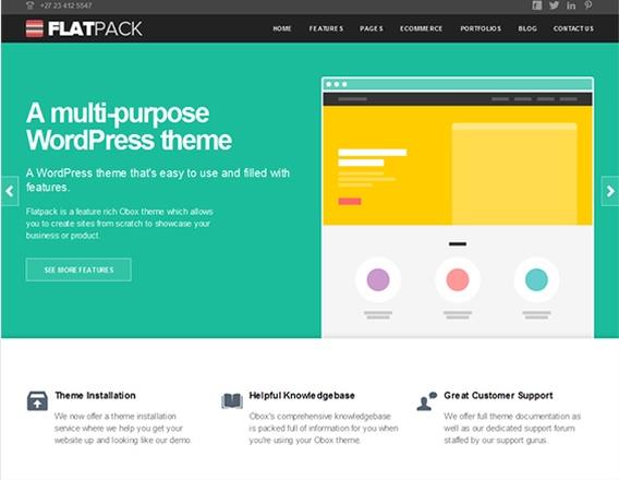 19 Free and Premium WordPress Themes With Flat Design