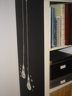 De costado personalizar mueble ikea con pintura de - Pizarra de pared ikea ...