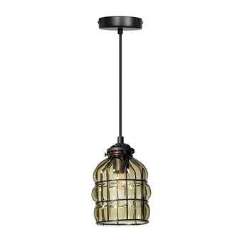 Late avonden en donkere straatjes, daar is de Smokey Venice hanglamp van ETH op geïnspireerd. De lamp is gemaakt van metaal en mooi groen gekleurd glas. Het metalen raamwerk 'deukt' het glas iets in, wat zorgt voor een speels effect.