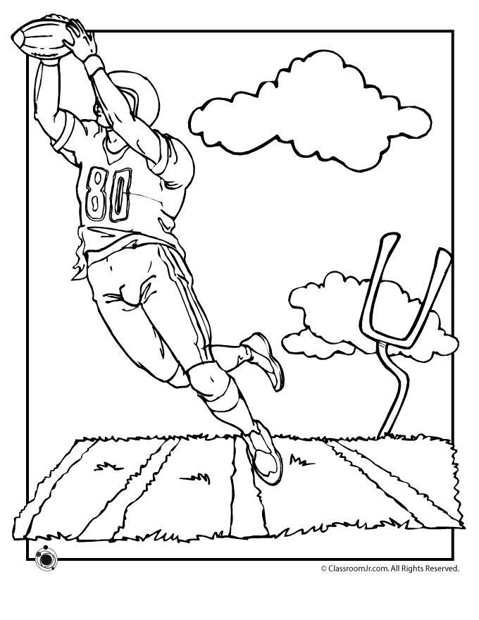 Football Coloring Pages Field Page Classroom Jr