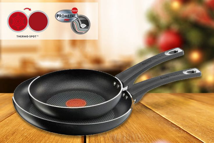 Jamie Oliver Non-Stick Frying Pans deal in Cookware & Utensils Get a Jamie Oliver non-stick frying pan twin set.  Measure 20cm dia. and 26cm dia.  Made from durable aluminium.  Dishwasher and oven safe.  Tefal's Thermo-spot Technology indicates optimum cooking temperate.  Add a bit of olive oil and off you go! Check more at http://nationaldeal.co.uk/jamie-oliver-non-stick-frying-pans-deal-in-cookware-utensils/