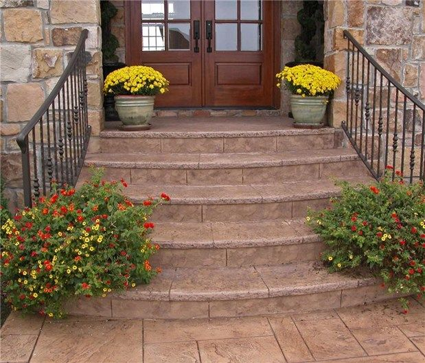Concrete Front Porch Steps | Steps and StairsArtisticrete, LLCNoblesville, IN