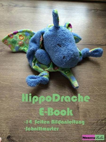 Schnuffeltuch HippoDrache e-Book von MonstaBella auf DaWanda.com