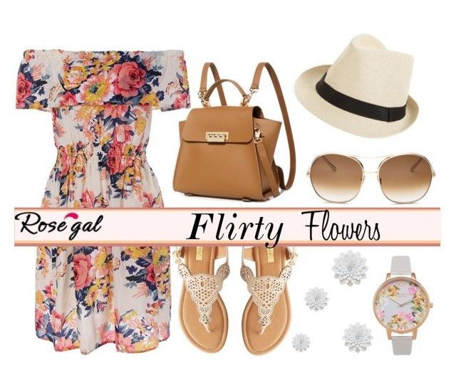 Flirty Flowers by monique-joanne on Polyvore featuring polyvore, fashion, style, Qupid, ZAC Zac Posen, Olivia Burton, Fits, Chloé and clothing