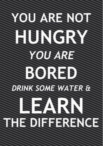 you are not hungry