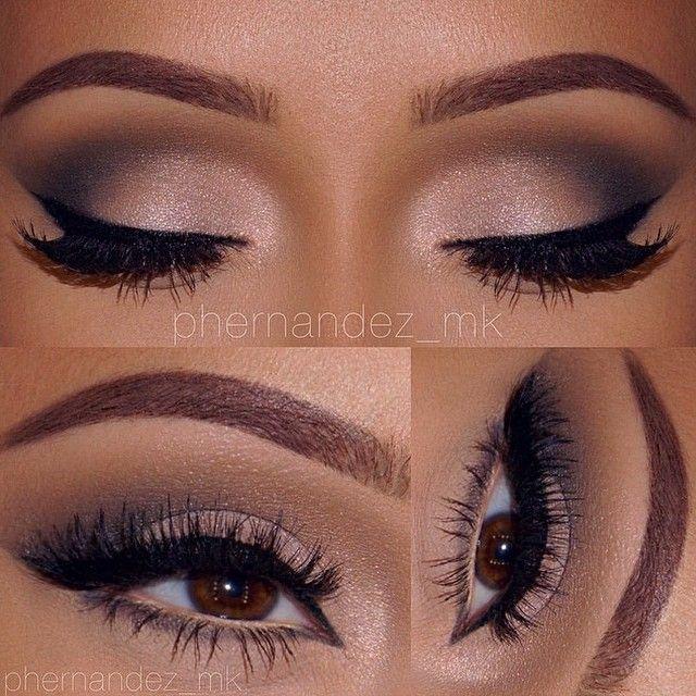 Neutral Glam by MUA: phernandez_mk featuring her MakeupbyMandy24 Eyeshadow Palette