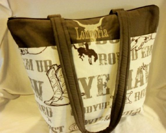 Cowboy western theme SALE 16% off small medium or large 2 styles diaperbag or just great purse Great for Dad' baby shower gift