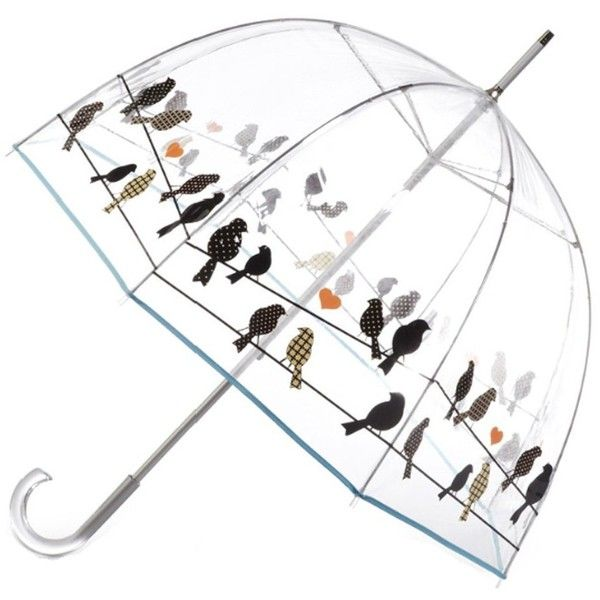 Amazon.com: Totes Signature Clear Bubble Umbrella w/ Crook Handle... ($19) ❤ liked on Polyvore featuring accessories, umbrellas, umbrella, other, bubble umbrella, clear bubble umbrella and clear umbrella