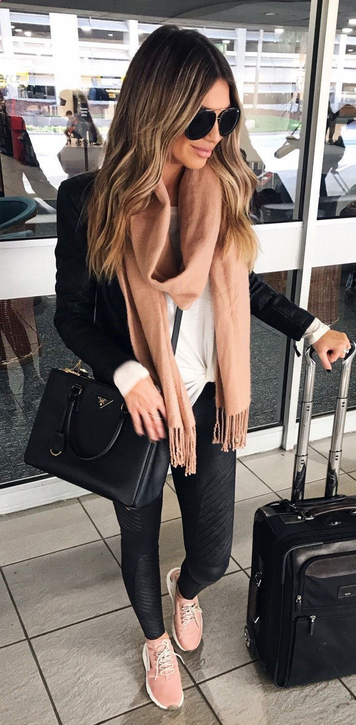 Clothing To Travel - #fall #outfits women's black jacket. Click To Shop This Look. The choice of our looks can depend on many things, including our tastes, our mood or our plans. Because it is not the same dress for a work meeting as for a party with friends or to make a trip. #womenclothingforfall #womenworkoutfits #partyoutfits