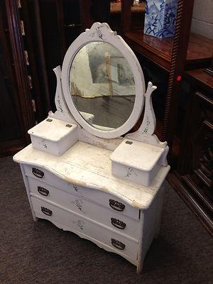 Antique Vanity Dresser Salesman Sample Original Mirror 1 3 Scale Size Child Doll | eBay