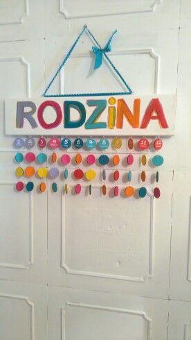 Kalendarz Rodzinny Mozna zamowic tu http://pl.dawanda.com/shop/Beademi