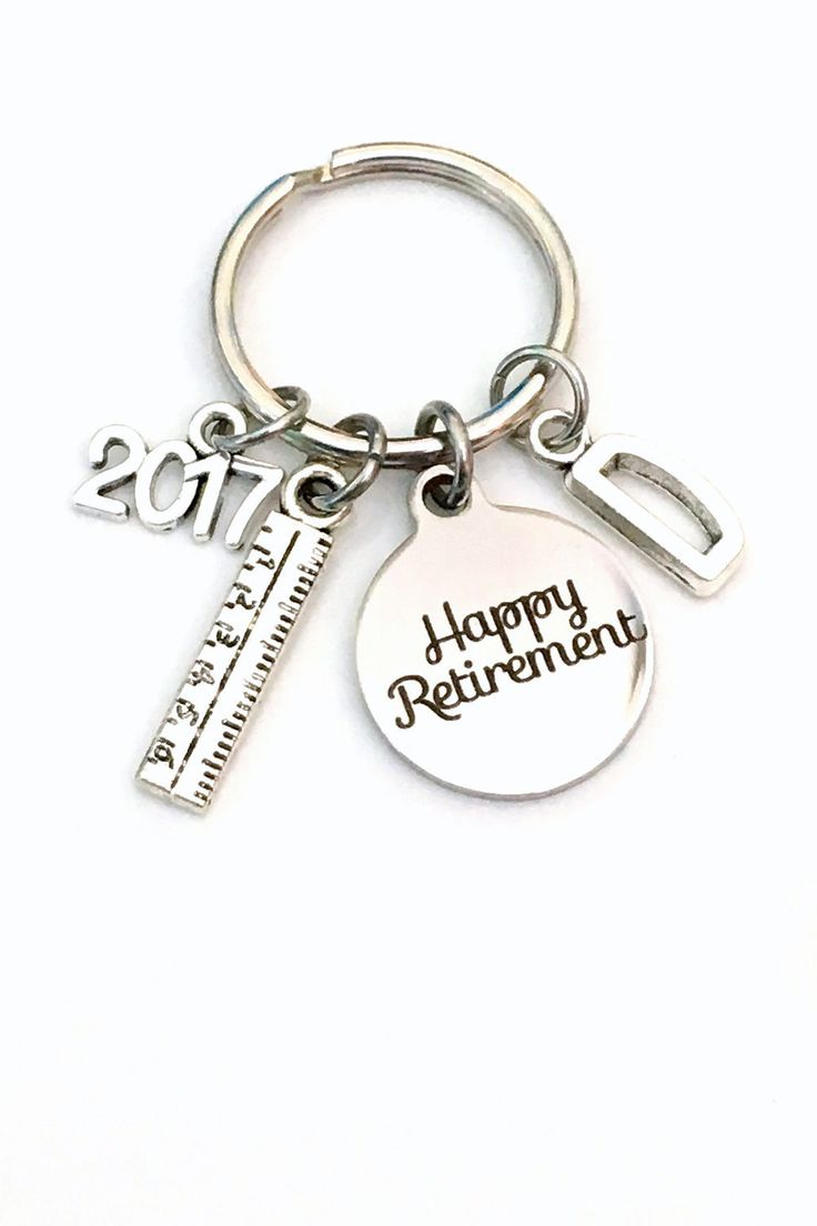 17 best ideas about retirement gifts for dad retirement gift for dad keychain 2016 2017 2018 architecture teacher draft ruler secretary key chain keyring retire coworker initial letter