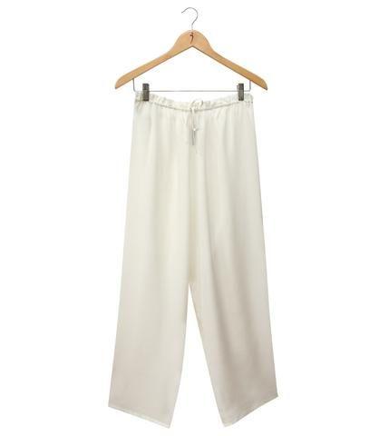 SILKBODY   Puresilk Crepe de Chine Pyjama Pants in Natural White $140
