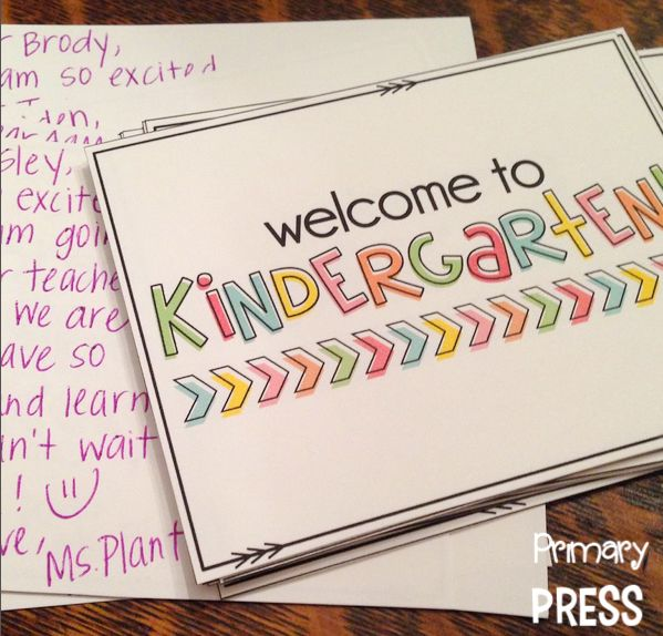 Free welcome postcards for pre-k-5th grade