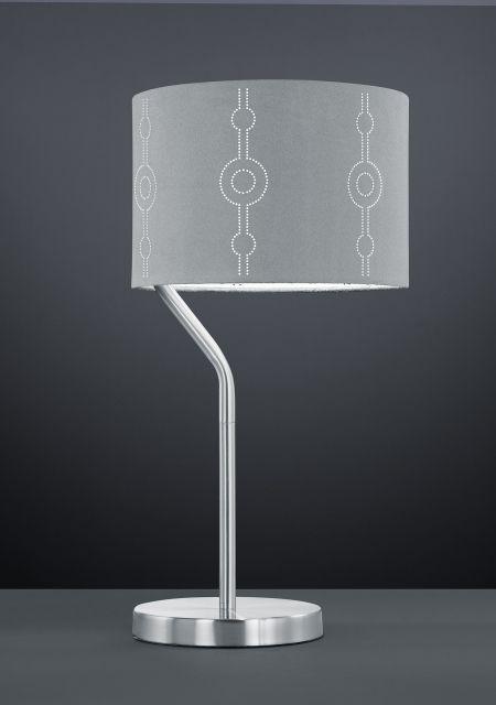 GRANNUS Trio - stolová lampa - šedý textil - 500mm