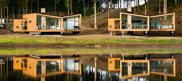 neocribs: Swedish Wooden House On Stilt | Woodlands Country Club | Örkelljunga | Sweden | Henning Larsen Architects