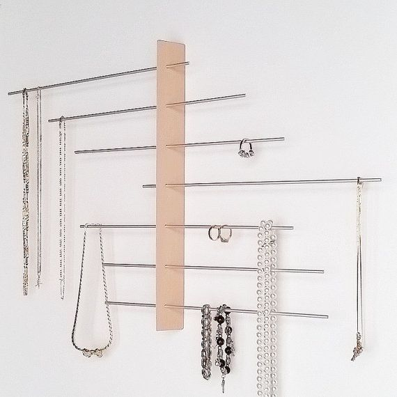 Wall Mount Jewelry Display / Jewelry holder / door Wooddesigndforyou