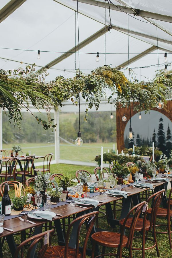 garden reception - photo by Shane Shepherd http://ruffledblog.com/australian-wedding-for-a-couple-who-met-on-instagram
