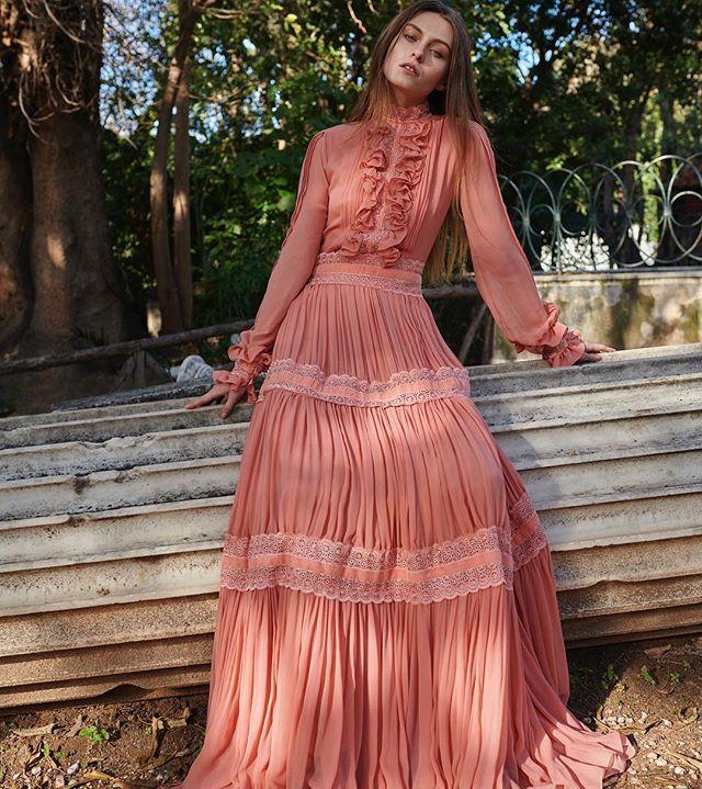 Pre-fall 2018 #rtw Collection. #costarellos #prefall18 #prefall2018 #pfw #parisfashionweek #fashionmarket #paris #dress