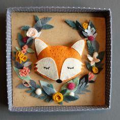 Renard feutrine couronne de fleurs déco enfant https://www.alittlemarket.com/boutique/emili_molo-177313.html