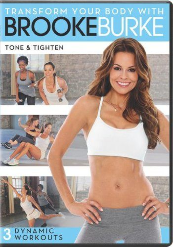 http://pins.getfit2gethealthy.com/pinnable-post/transform-your-body-with-brooke-burke-tone-tighten/ Author, 40 year old mother of four, TV star and entrepreneur Brooke Burke proves that you can have an amazing body at any age. She knows what it takes to tone and tighten her body and now she is going to share those secrets with you. In this challenging fat burning workout, Brooke leads you through an engaging sequence of dynamic exercises to help ...