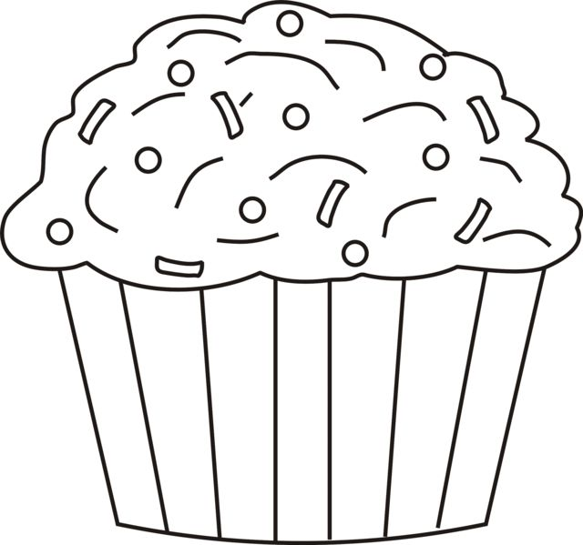 cupcake shape for birthdays forget the lines and designs in the frosting free cupcake coloring pages