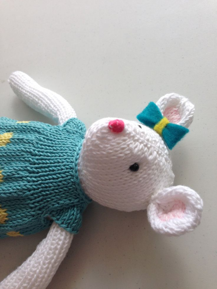Knitted Mouse by Nodnook on Etsy