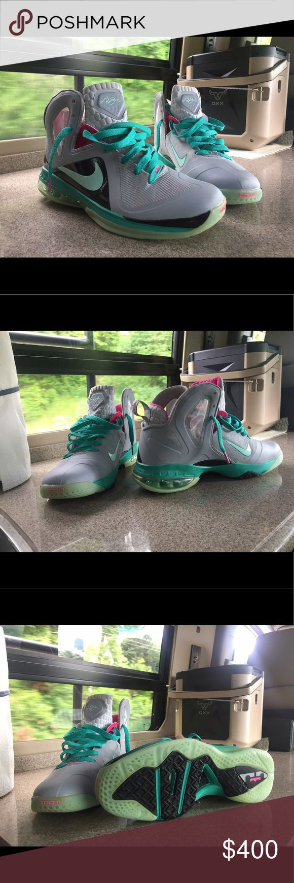 317aa71b0fbb4 Top Quality Nike Lebron 9 GS 472664 600 Black Laser Pink