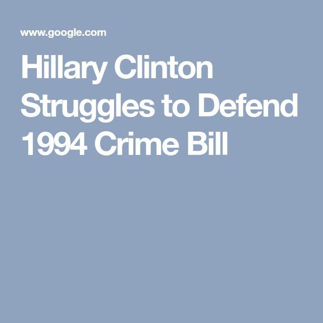 Hillary Clinton Struggles to Defend 1994 Crime Bill