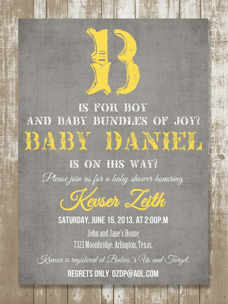 B is for Boy Vintage Baby Shower Invitation by StyleMeShabbyChic, $18.50