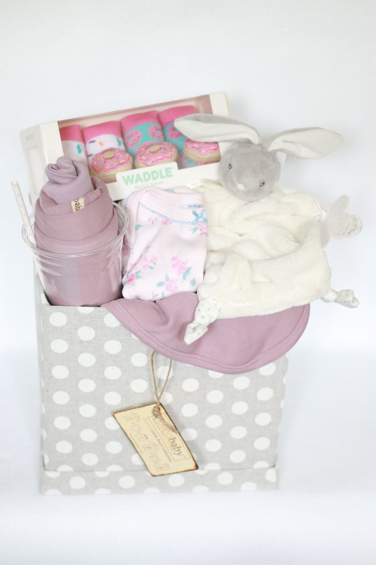 Baby Girl Gift Cube