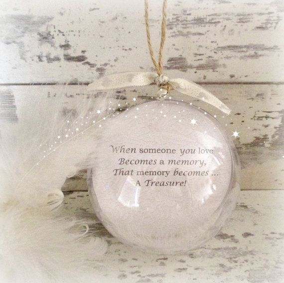 This personalised Christmas decoration is the lovely way to remember loved ones at Christmas time. Christmas can be a difficult time when we have