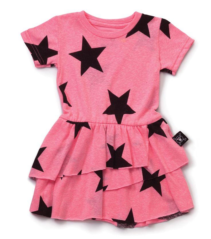 Nununu Layered Star Dress Pink