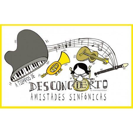 """Lámina """"de des(conciertos) y amistades sinfónicas"""""""