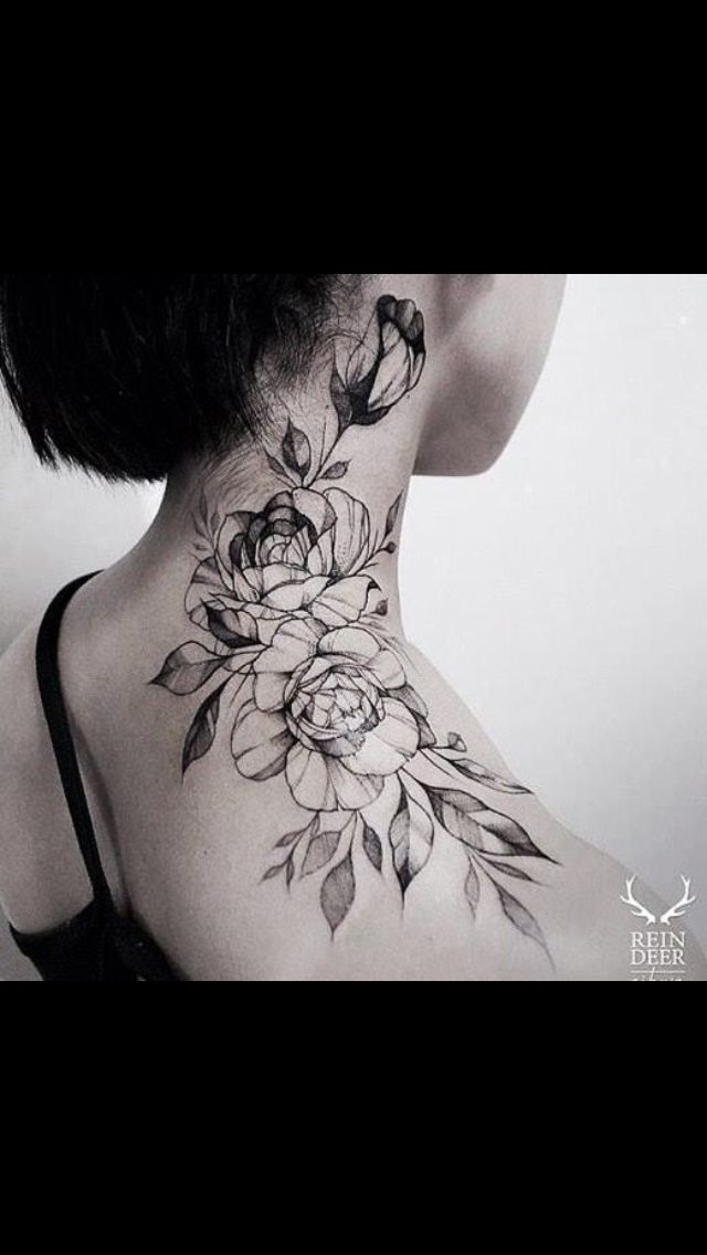 What Are The Hottest And Sexiest Locations For Girls Tattoos For Women Neck Tattoos Women Rose Neck Tattoo Neck Tattoo