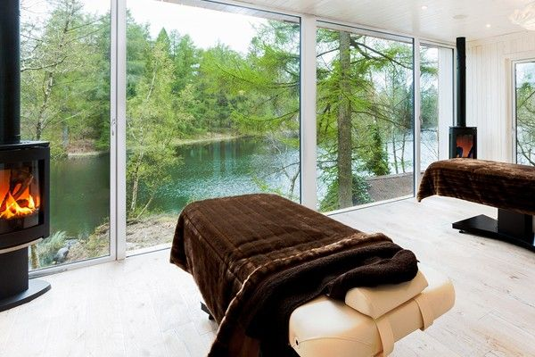 Gilpin Hotel & Lake House luxury hotel in  Cumbria & the Lake District, England offers exclusive Swedish-style Jetty Lake House Spa services for its guests.