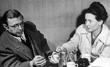 Jean Paul Sartre and Simone de Beauvoir -Because they found their own way in their relationship.