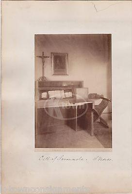 CELL OF GIROLAMO SAVONAROLA FLORENCE ITALY CATHOLIC FRIAR ANTIQUE PHOTO CARD