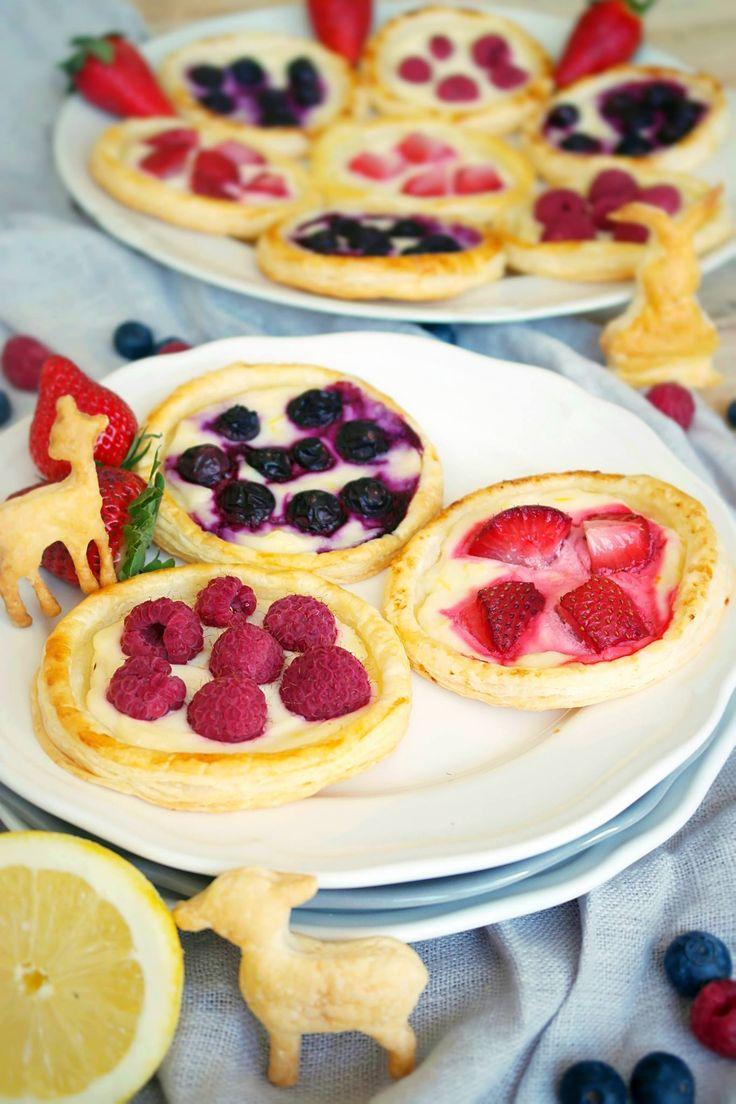 Rezept-Fruchtige Osternester aus Blätterteig