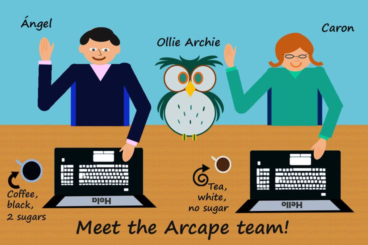 Hello, Hola and Hoot Hoot from the Arcape team!  Welcome to our Pinterest account.